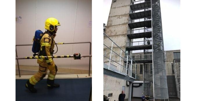 Biometrics testing firefighters Savox